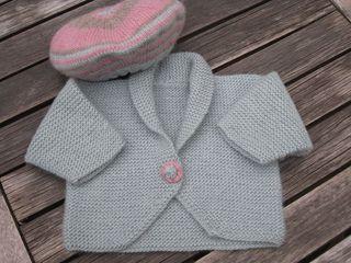 cbf54104fcfe Baby Girl Peonie Garter Stitch Cardigan pattern by Audrey Wilson ...