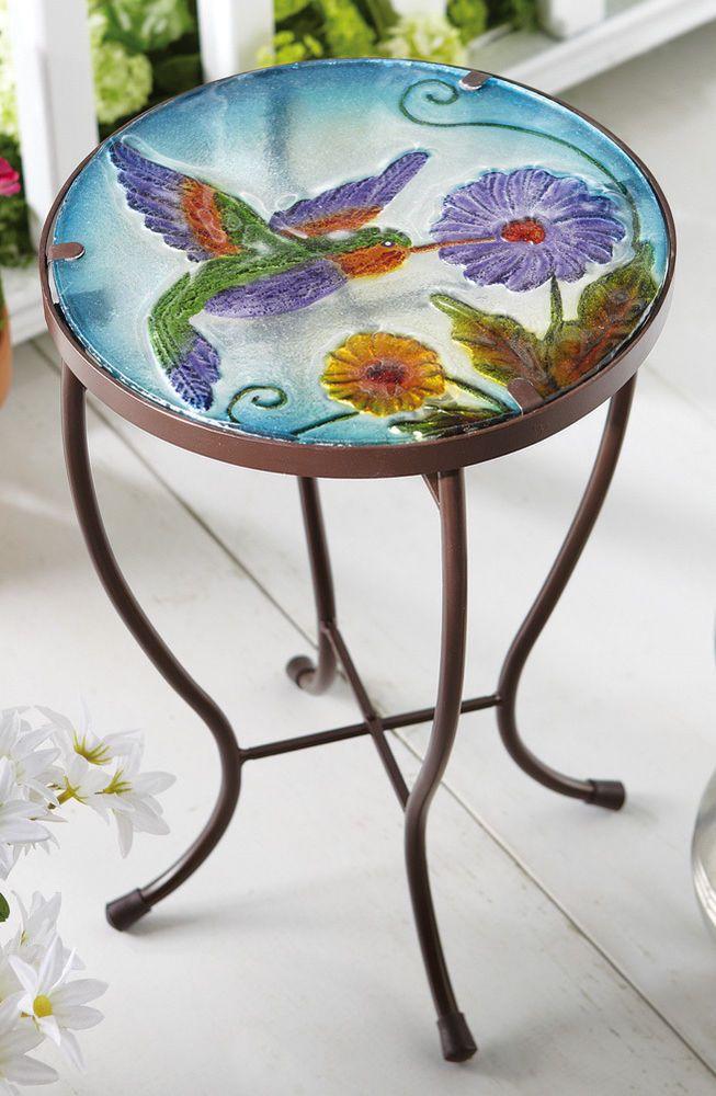 Hummingbird Garden Patio Accent Table, Patio, Garden Furniture, Tables