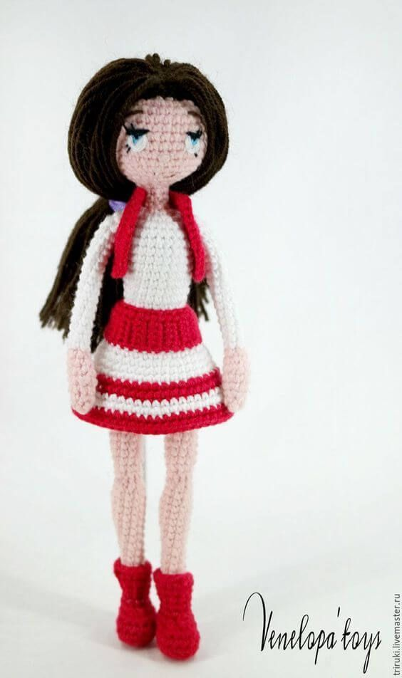 Muñeca Amigurumi Articulada   muñecas articuladas   Pinterest ...