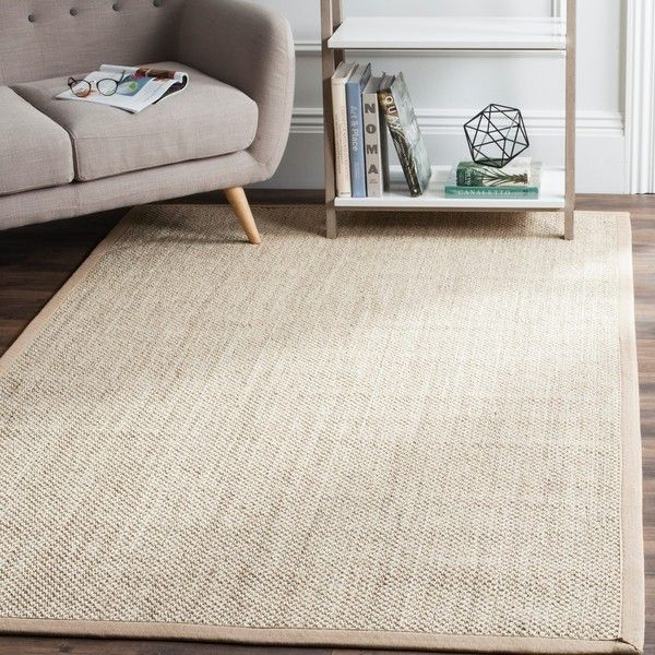 Safavieh Casual Natural Fiber Marble Ivory Linen Sisal Area Rug 246 Liked