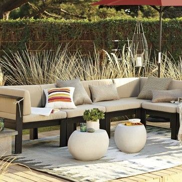 Wood Slat Sectional Outdoor Cushions Modern Outdoor Sofas West Elm Modern Outdoor Sofas Modern Outdoor Furniture Outdoor Decor