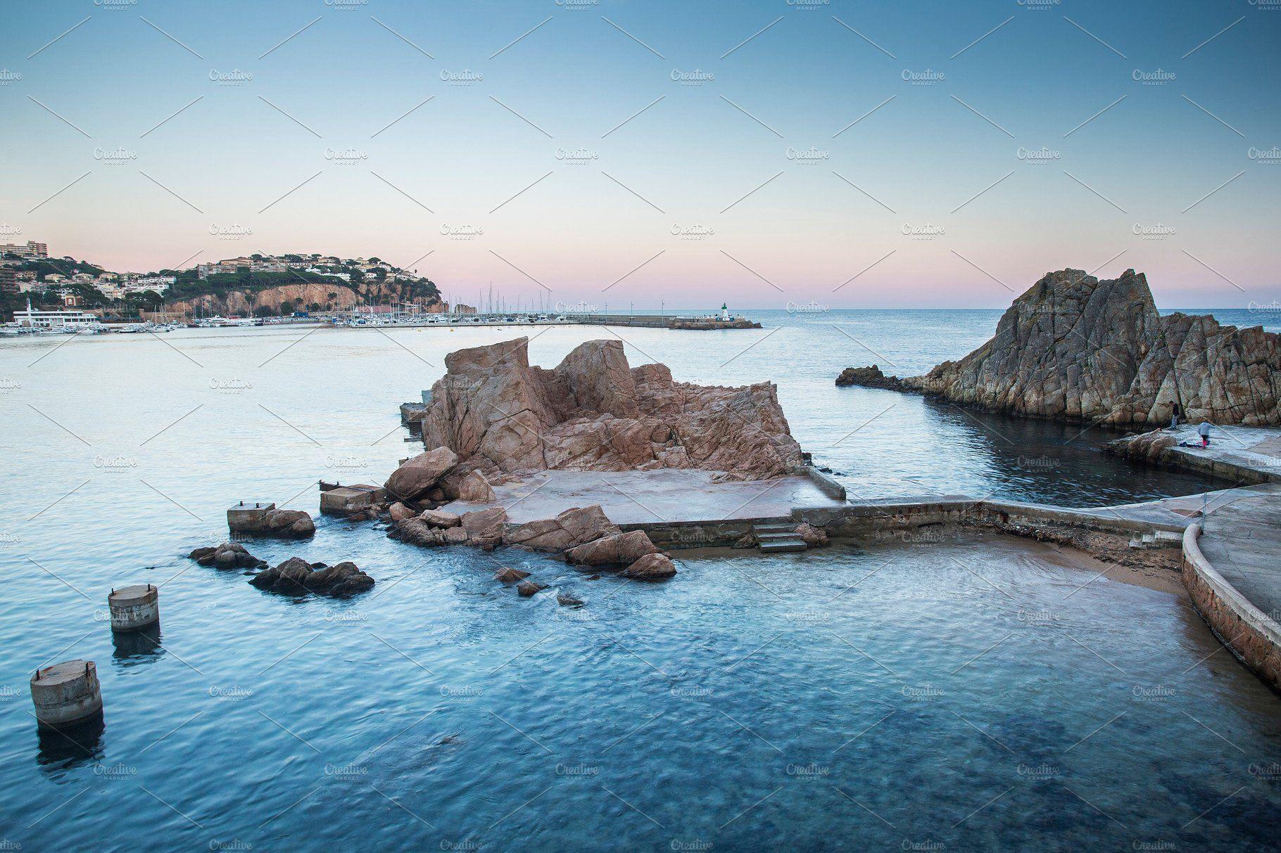 Sant Feliu De Guixols Bay Spain Photography Night Landscape Costa Brava