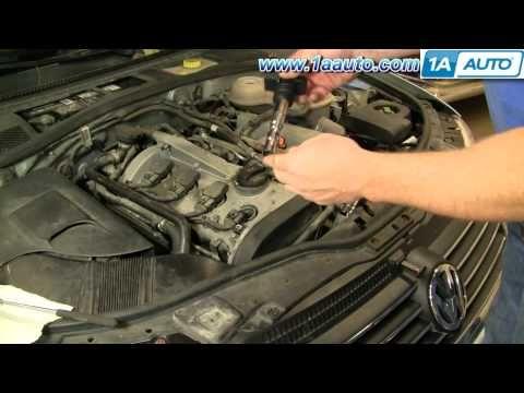 How To Install Replace Engine Ignition Coil Volkswagen Passat 1 8t 1aauto Com Volkswagen Passat Repair Manuals Repair Videos