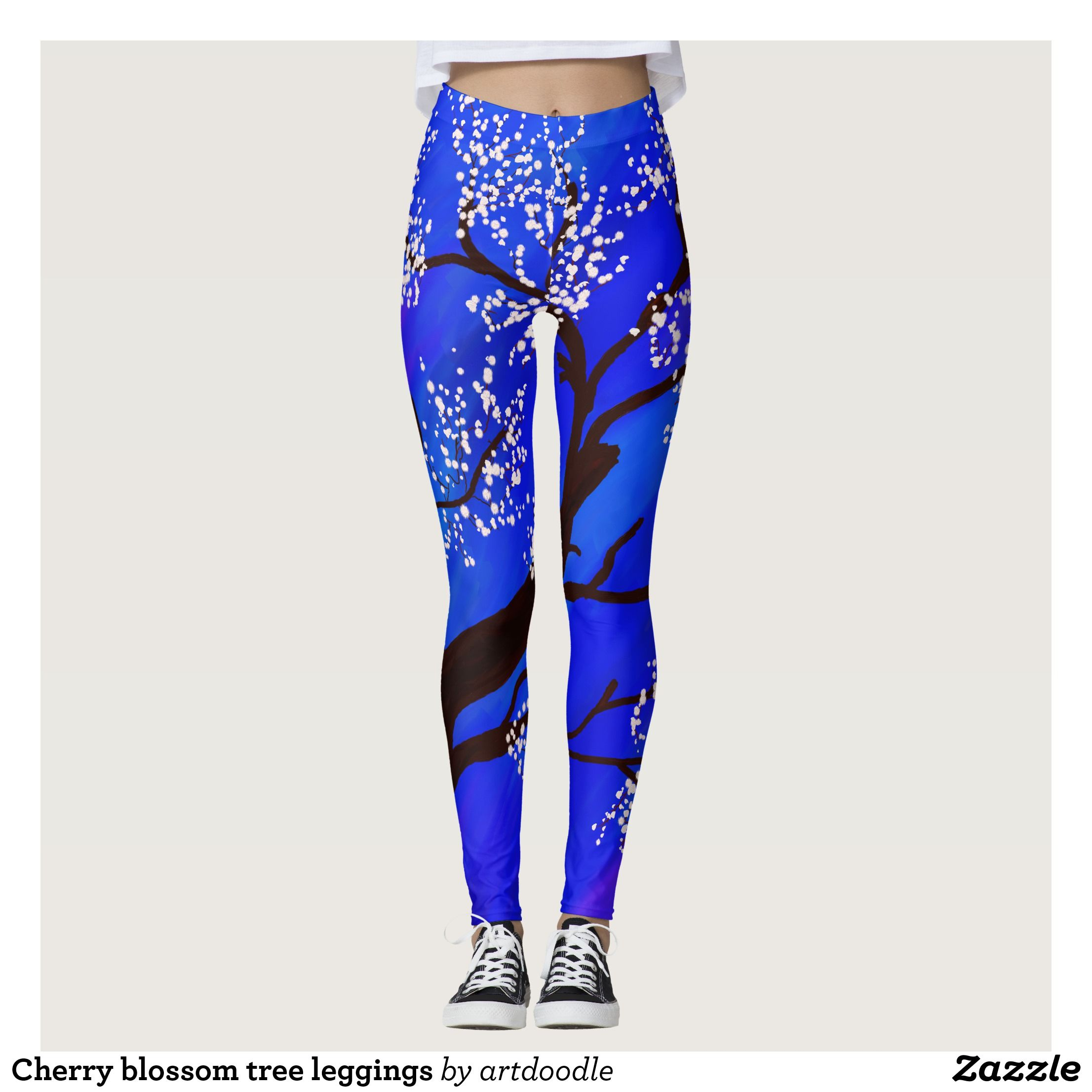 Cherry Blossom Tree Leggings Zazzle Com Cherry Blossom Tree Fashion Outfits Tights Workout