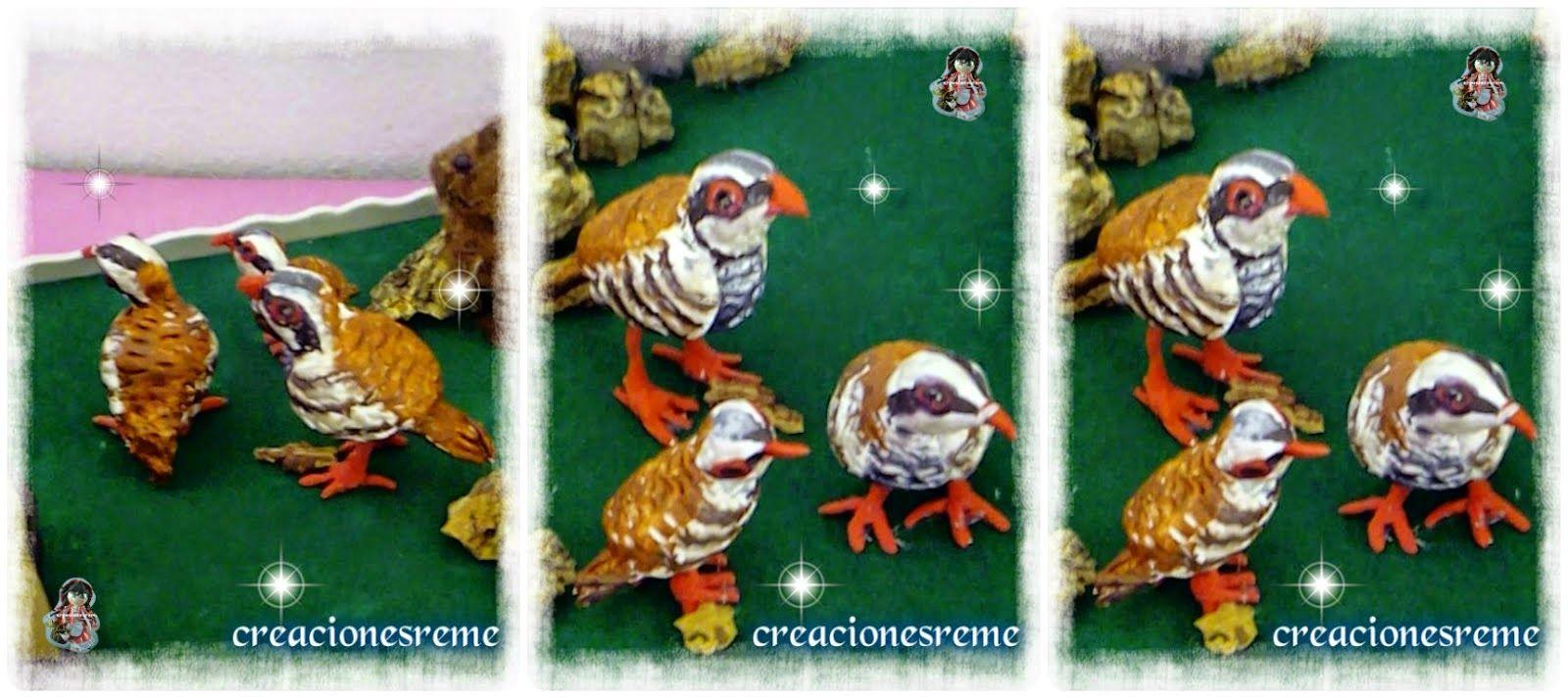 Perdices miniatura #miniaturas #perdices Muñequitas de goma eva Creacionesreme