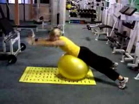 fitball back extension 2 - YouTube your trainer needs www.fitia.ca