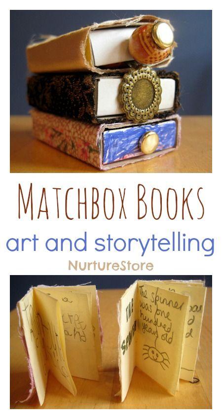 Pikkuruiset minikirjat pikkuruisille tarinoille. Hyvä konsti harjoitella tarinan rakennetta ihan muutamalla lauseella.