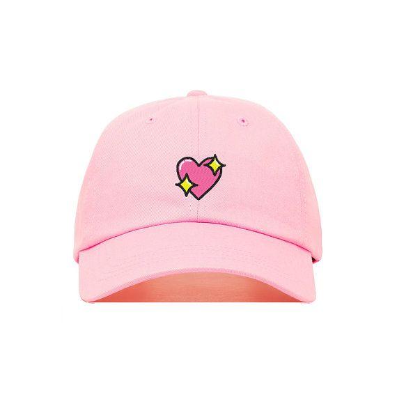 Trendy Apparel Shop Emoticon Heart Embroidered Summer Adjustable Visor