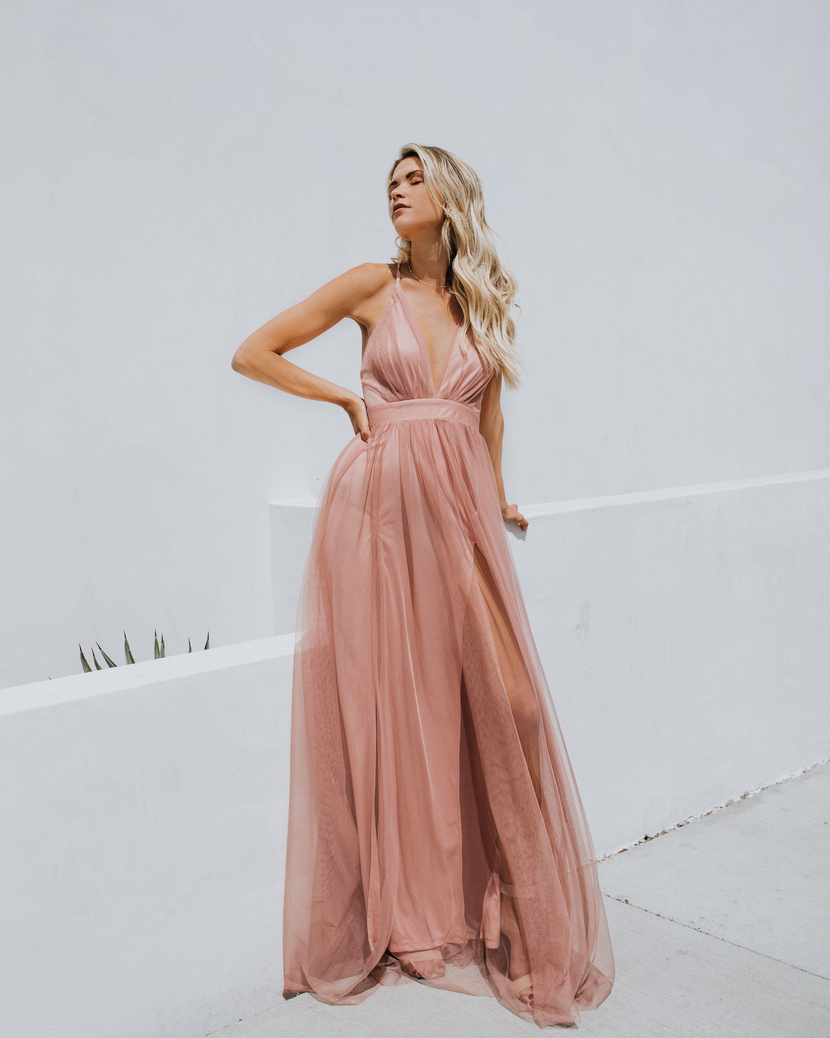 Petal Dust Maxi Dress Formal Wedding Guest Dress Blush Bridesmaid Dresses Wedding Guest Dress [ 3600 x 2880 Pixel ]