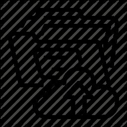 Cloud Folder Document File Folder Upload Document Icon Vector Icon Design Icon Vector Icons