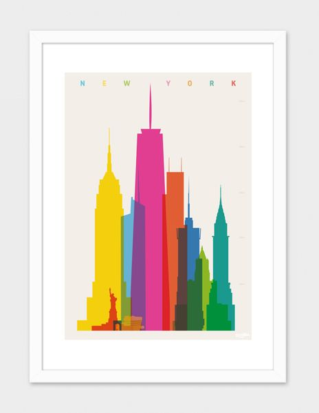 Shapes of NYC» Art Print by yoni alter | D_I_Art Shop | Pinterest ...
