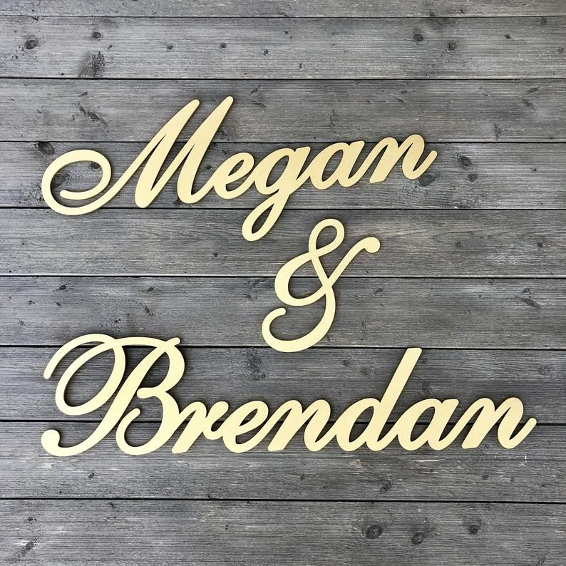 Personalized Couples Name Sign Version 2 Name1 & | Etsy