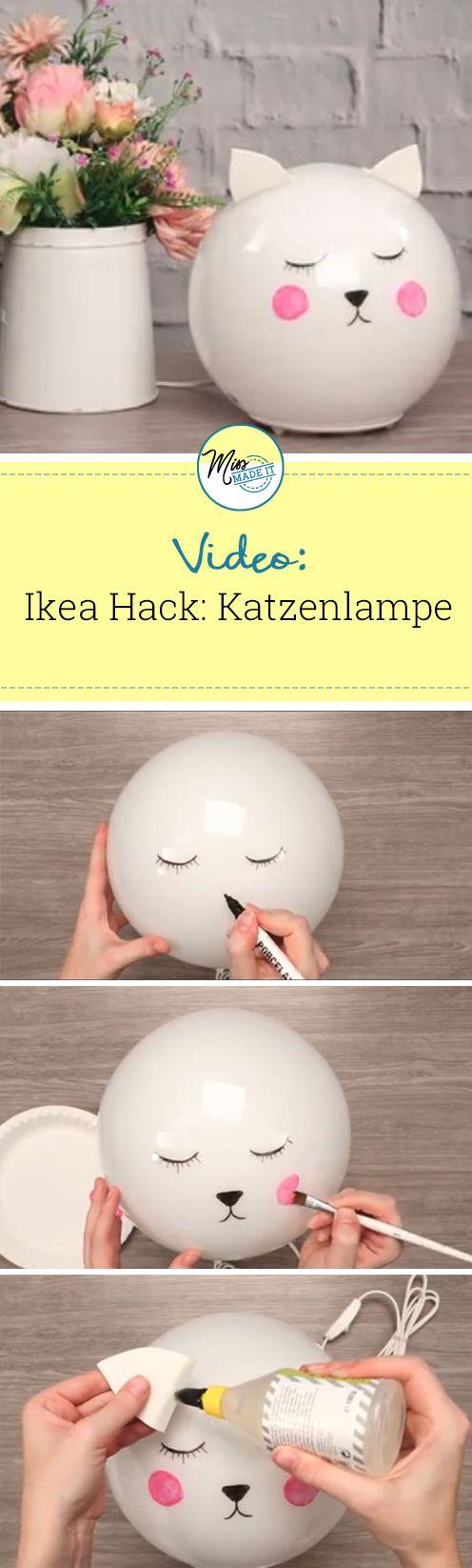 so verwandelst du die ikea fado lampe in eine katze ikea hacks basteln lampen und ikea. Black Bedroom Furniture Sets. Home Design Ideas