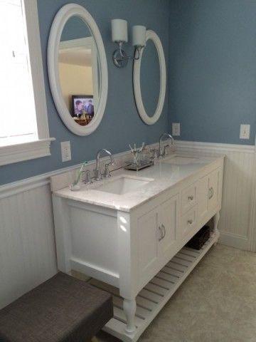 """62"""" turned leg vanity   diy bathroom remodel, bathroom"""
