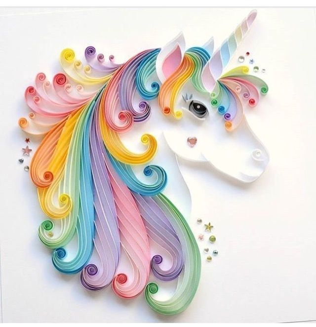 Awesome quilling of unicorn.Its amazing  quilling is fab  Pinterest  가죽 작업 ...