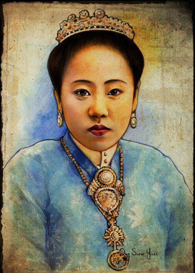Behance : Baba Nyonya / Peranakan (Straits Chinese) watercolor by Ong Siew Guet