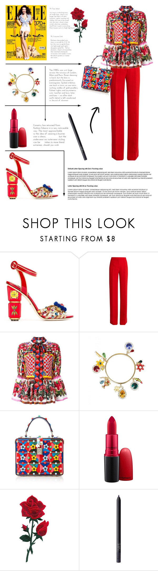 """""""You Got Me Like Boom Boom..."""" by zaylestyle ❤ liked on Polyvore featuring Dolce&Gabbana, Marco de Vincenzo, MAC Cosmetics and NARS Cosmetics"""