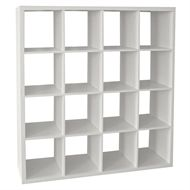 cheap for discount 30116 c242c Clever Cube Storage System - 4 x 4 - White at Homebase.co.uk ...