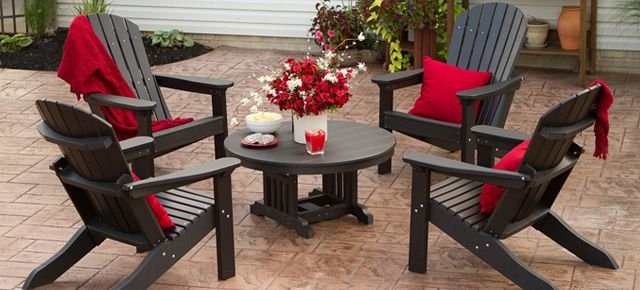 Recycled Plastic Outdoor Furniture Made From 100 Milk Jugs Maintenance Free In Canada
