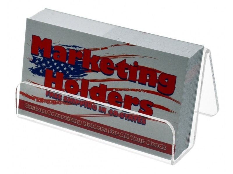 Tabletop Clear Acrylic Business Card Holder with Front Lip ...