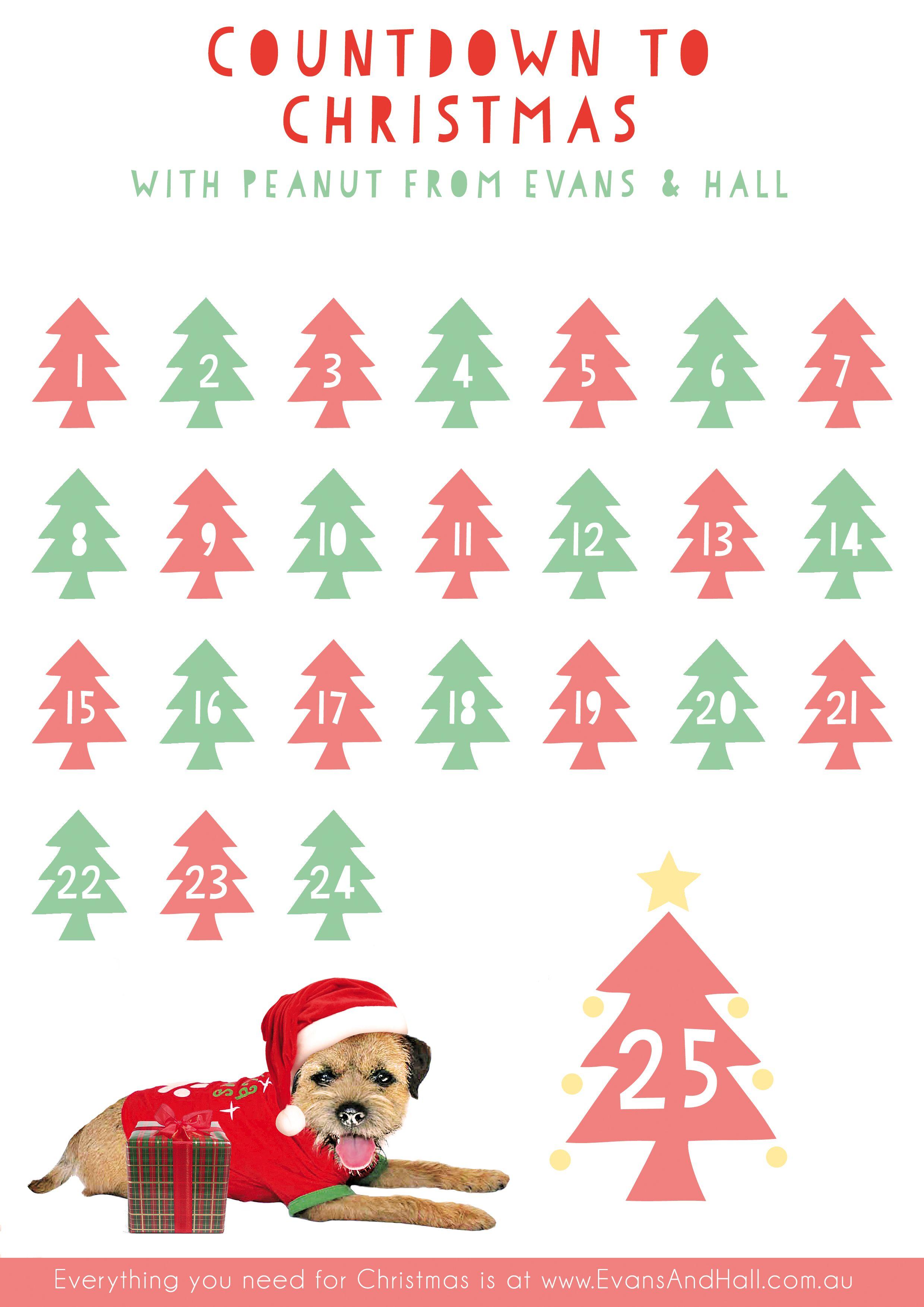 Free Printable Countdown To Christmas Chart