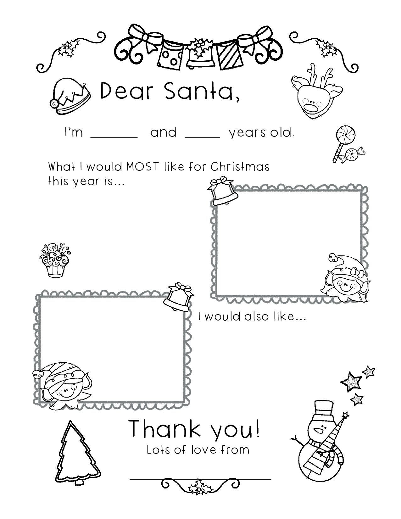 Free Dear Santa Letter With Images