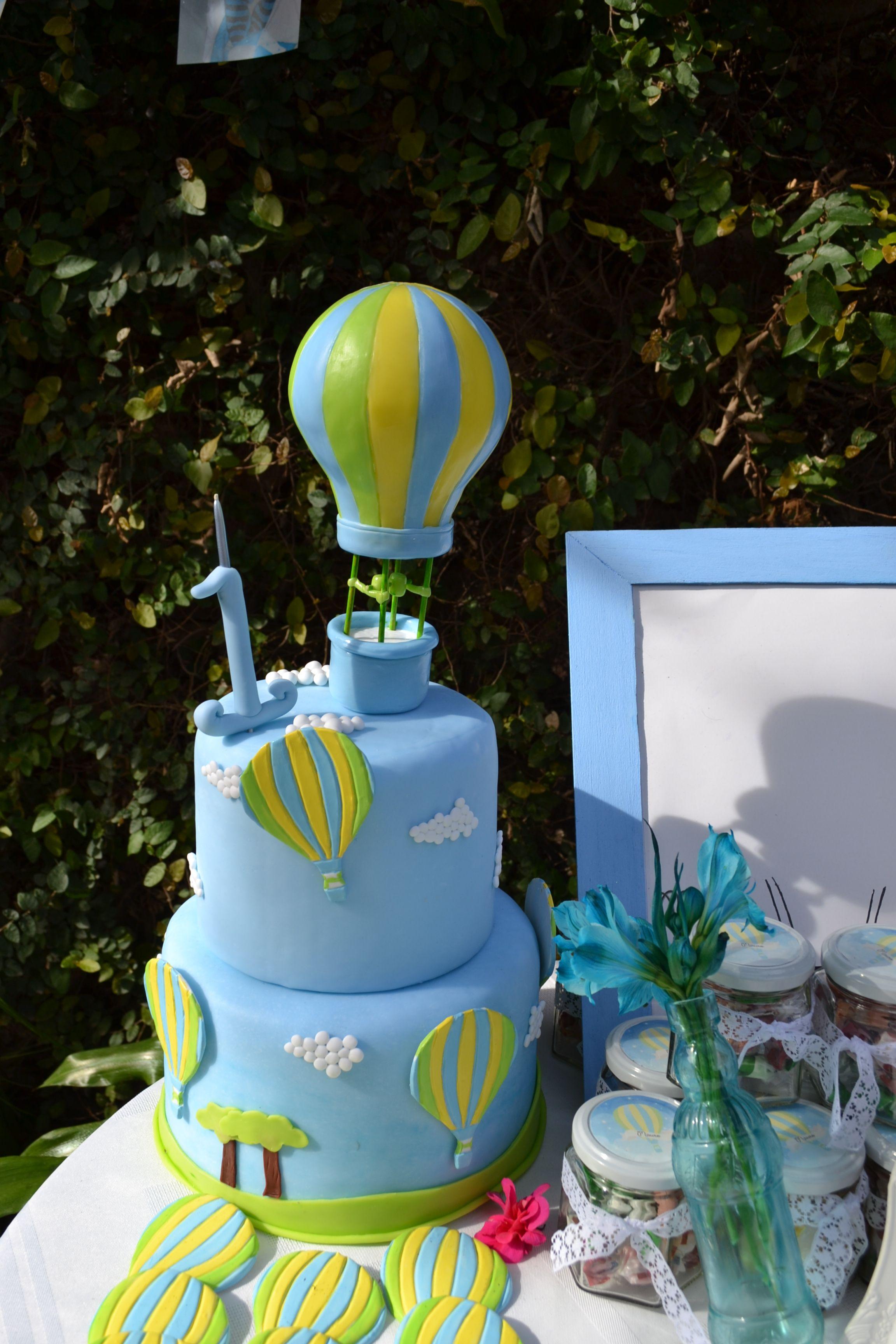 Torta globo aerostatico torta maqueta globos para - Globos fiesta cumpleanos ...