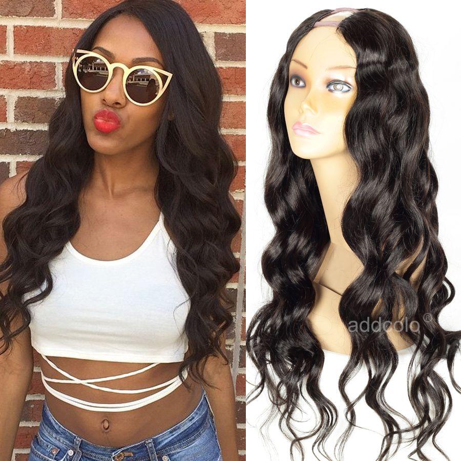 Cheap U Part Wigs Brazilian Long Hair Loose Wave Middle Part U Wigs