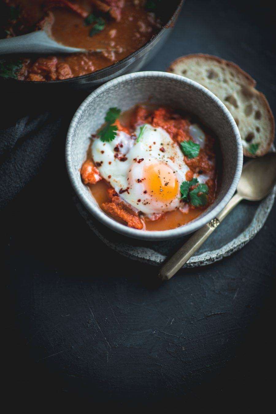 Shakshuka with Persimmons This delicious pepper stew hails from north Africa and the middle east, and is full of comforting spices and deep tannic flavors.