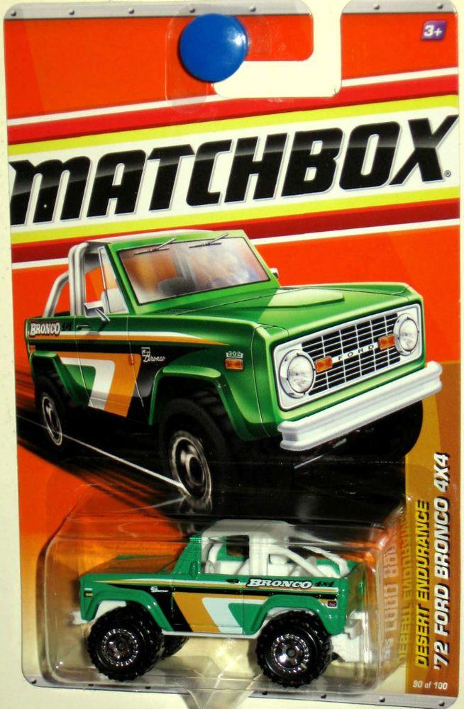 1972 Ford Bronco Matchbox 2011 Desert Endurance 90 100 Green