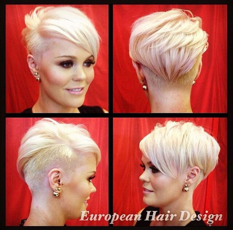 Short Funky Hairstyles Cool Short Pixie Blonde Hairstyle Ideas 86  Blonde Hairstyles