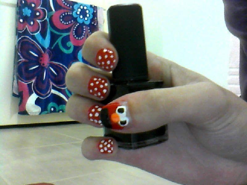 Elmo Nail Design Nails Pinterest Elmo