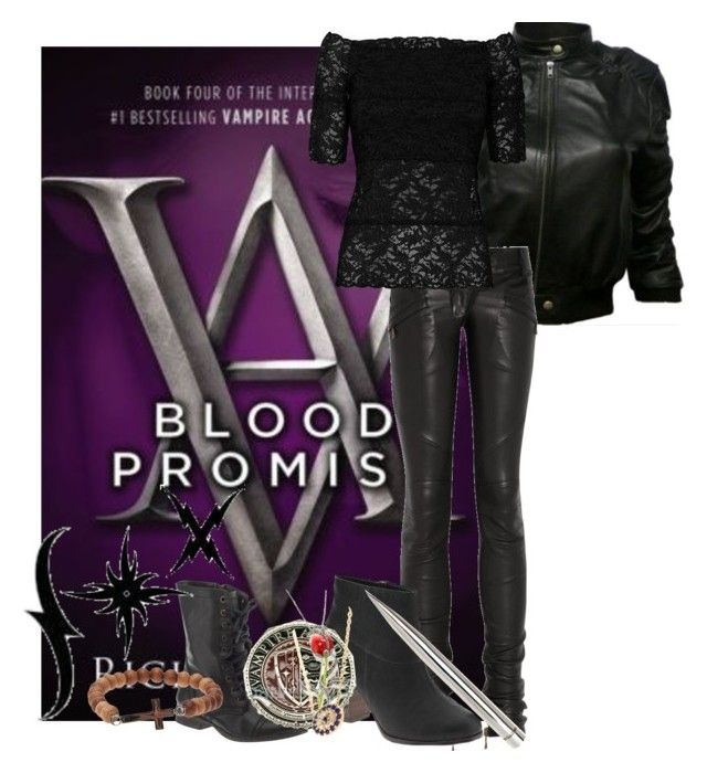 """Blood Promise"" by katleadavis ❤ liked on Polyvore featuring Balmain, Cole Haan, D.Exterior, Steve Madden, Dallas Prince, Aamaya by priyanka, Luis Morais and mark."