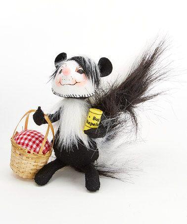 Picnic Skunk Figurine | Skunk, Figurines, Dolls