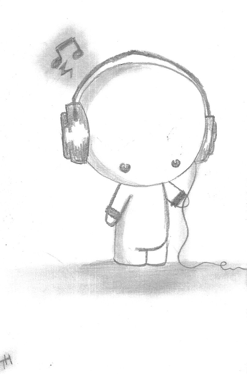 Chibi drawings drawings 2010 2013 metanner my way of drawing chibi with headphones