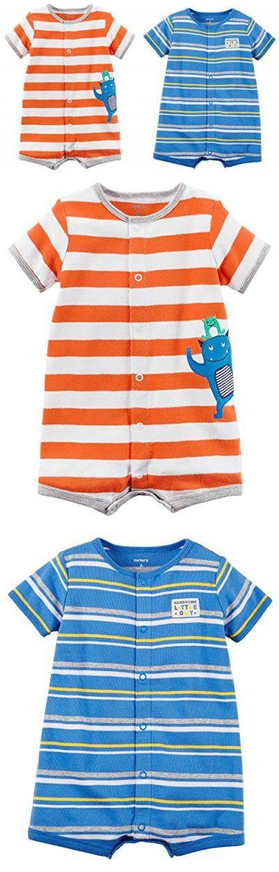 Zutano Moss//Red Multi Stripe Shorts