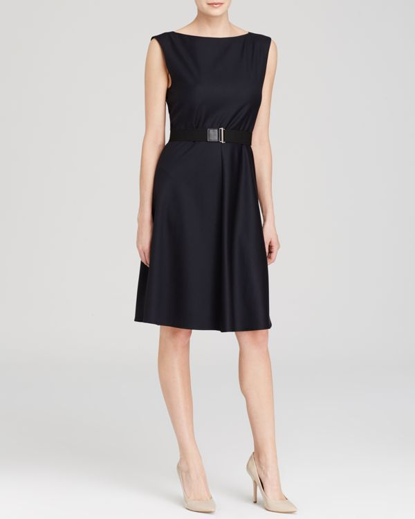 Theory Dress - Grycie Belted Wool