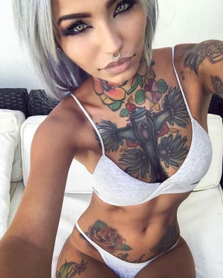 Amazing Tattooed Fitness Girls  Women Daily Pictures -8420