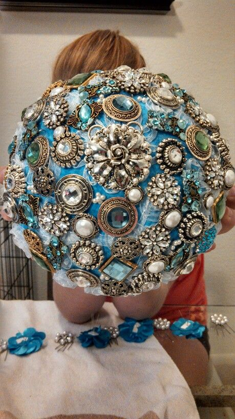 Brooch Bouquet All Items Bought At Michaels Craft Storeend Product 8500