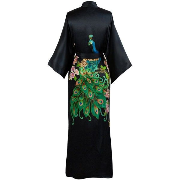 Old Shanghai Women\'s Silk Kimono Long Robe Handpainted ($110 ...