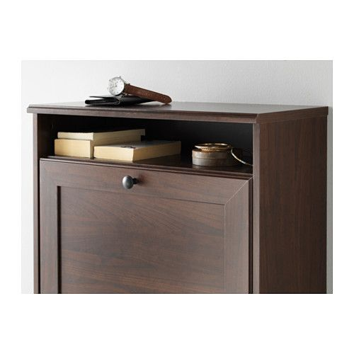 Brusali Shoe Cabinet With 3 Compartments Brown 24x51 1 8 Ikea Shoe Cabinet Shoe Storage Cabinet Ikea Brusali