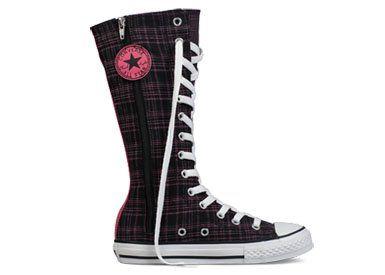 e7c0bdef2bf1 Converse Chuck Taylor All Star Tall XHi Black Carmin 637248C Converse.   61.99