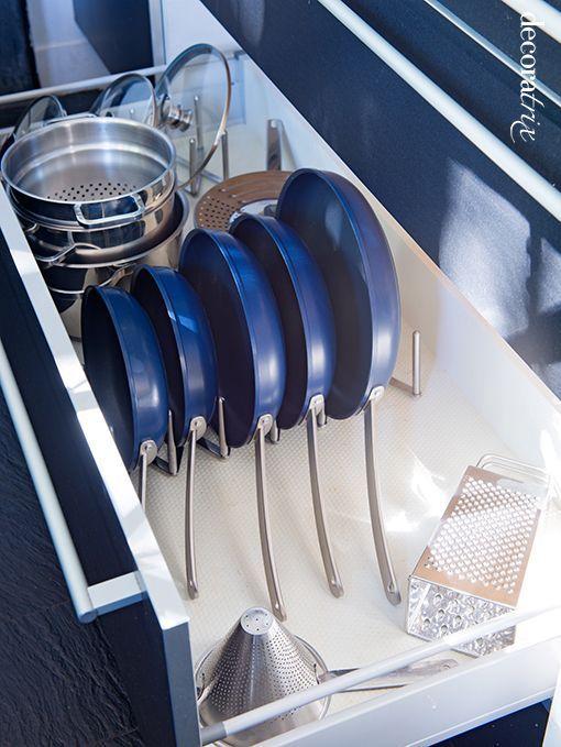 Organizar los cajones y las sartenes orden en casa for Organizar cajones cocina