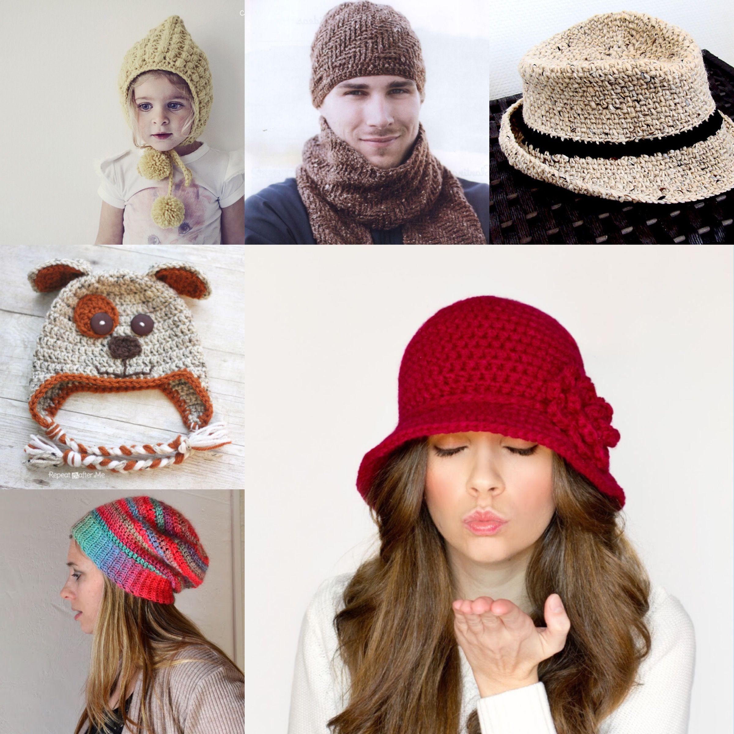 Cappelli ad uncinetto. Sei schemi gratuiti | Uncinetto