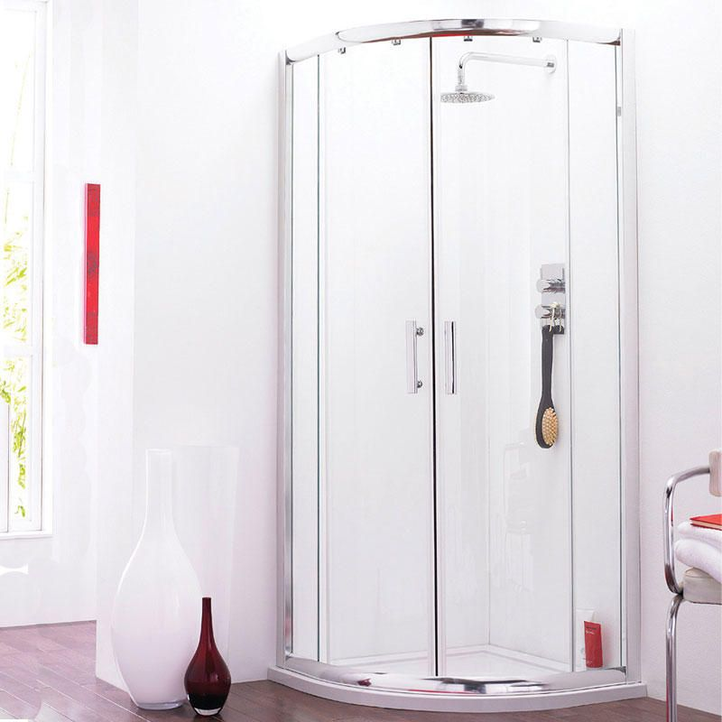 Pacific Quadrant Corner Shower Enclosure & Tray 800mm x 800mm ...
