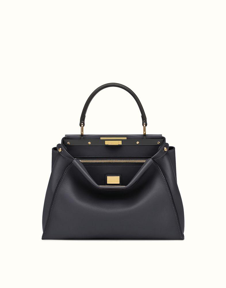 761373c4ff FENDI REGULAR PEEKABOO - handbag in black leather