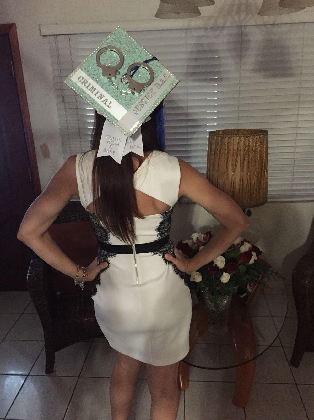 Criminal justice graduation cap | Graduation cap designs ...