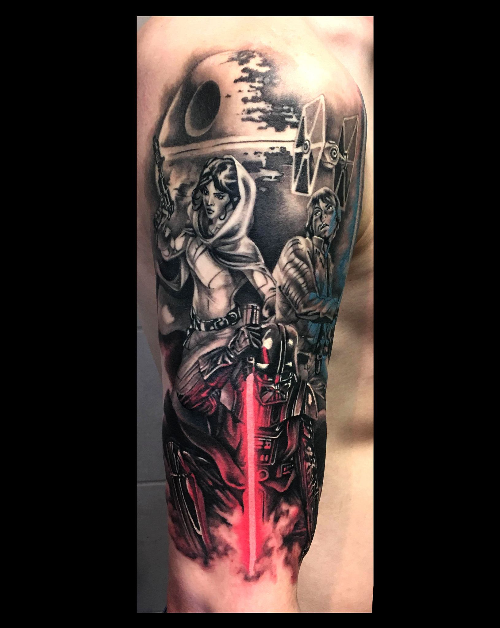 730fc9a80b STAR WARS | Japanese tattooer Magu. Specialized in original custom work.  Large variety of