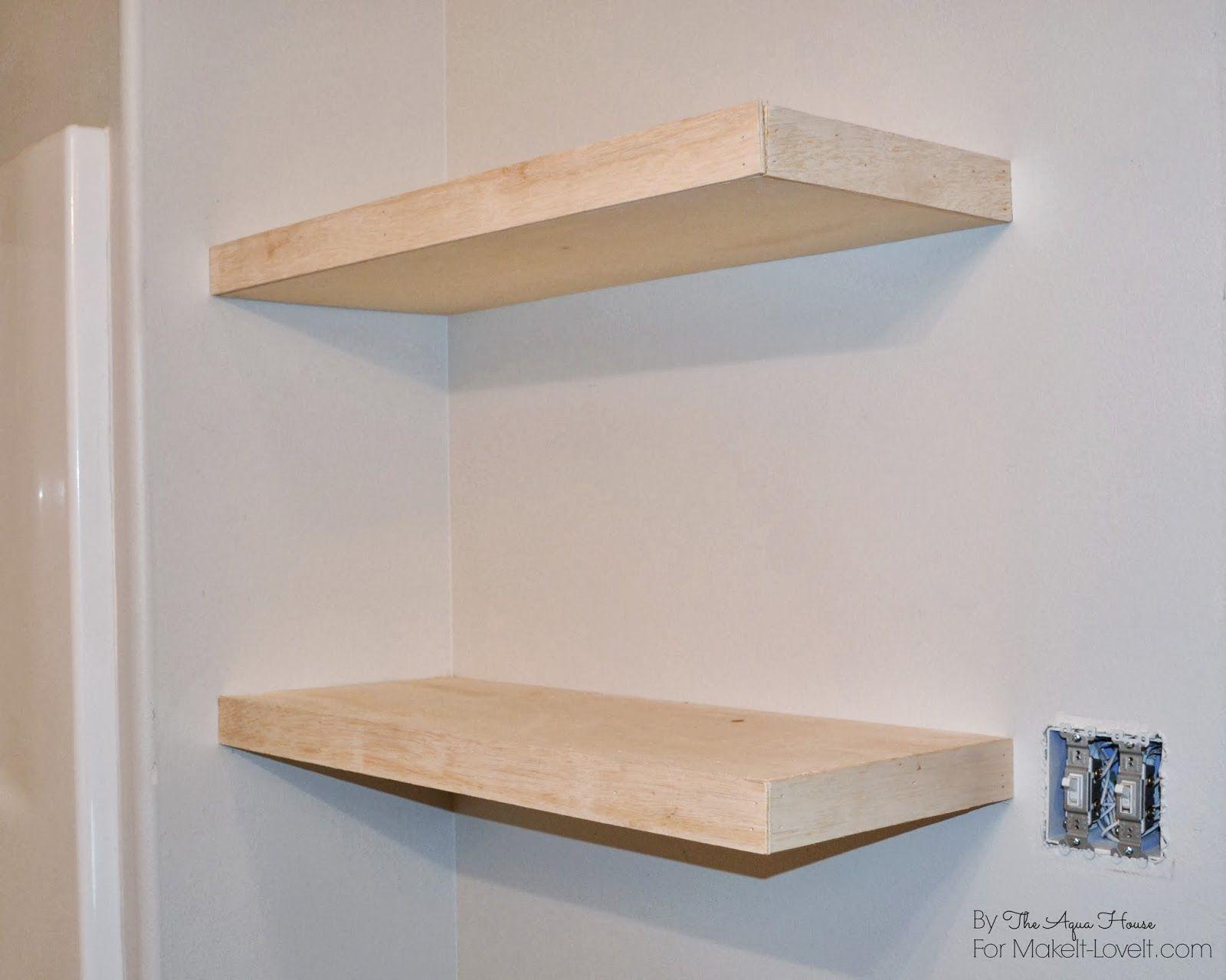 DIY Floating Shelves……a great storage solution! Floating