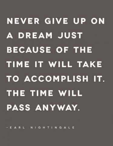 The time will pass anyway.